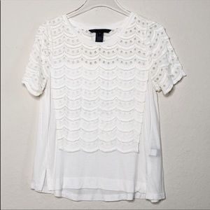 Marc by Marc Jacobs Scalloped Lace Blouse
